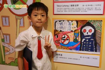 拒菸檳彩繪表態! 學童獨特創意超吸睛