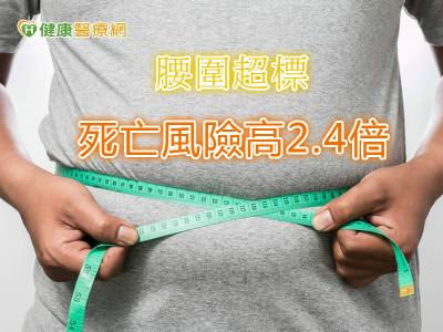 腰圍超標 死亡風險高2.4倍
