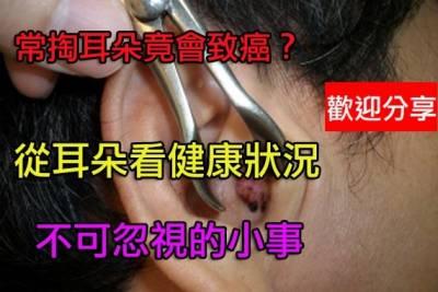 從耳朵辯健康長壽:軟的比硬的好常掏耳朵致癌