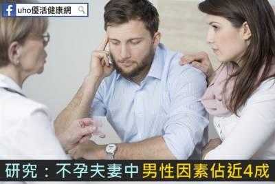 研究:不孕夫妻中 男性因素佔近4成