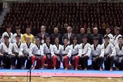 時隔16年!南韓跆拳道示範團平壤演出
