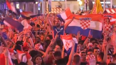 克羅埃西亞首度挺進世足決賽 球迷陷入瘋狂
