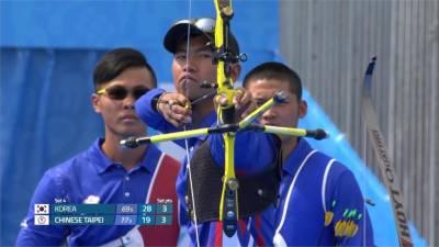 台灣男子射箭代表隊絕殺南韓!世界盃柏林站奪金牌