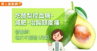 吃酪梨控血糖 減肥 治肩頸痠痛〜營養師:每天不超過1 2顆
