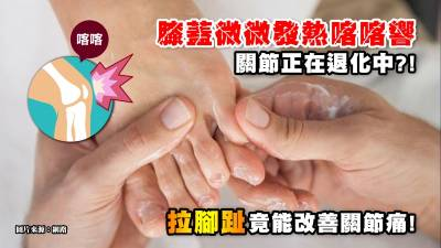 《健康2.0》膝蓋發熱喀喀響,小心你的關節正在退化