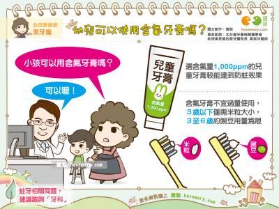 幼兒可以使用含氟牙膏嗎?