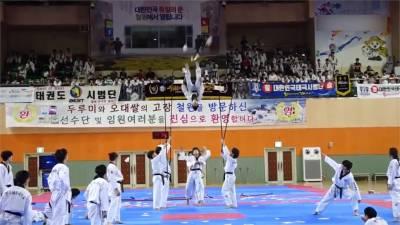 騰空飛躍一層樓擊破!花式跆拳道秀神技