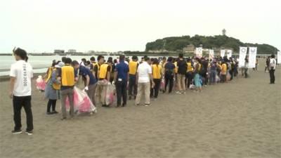東奧宣傳結合環保 舉辦撿垃圾大賽