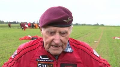 「諾曼第登陸」75週年 英9旬老兵搏命跳傘
