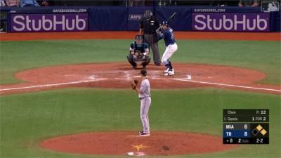 MLB/陳偉殷後援無失分 馬林魚客場不敵光芒