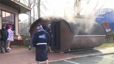 愛沙尼亞桑拿馬拉松賽 挑戰19個冰熱池與烤箱