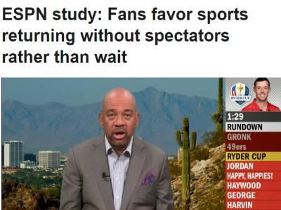 ESPN調查:六成五美國球迷願意收看閉門體育比賽
