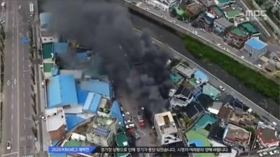 韓職開幕賽狀況多!因雨延賽 火燒民宅 比賽被迫中斷