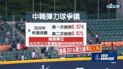 全壘打滿天飛!中職預計季中換比賽用球 彈力係數降至0.56