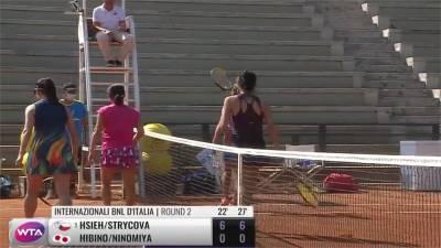 賞對手兩個6:0 謝淑薇晉羅馬公開賽女雙八強