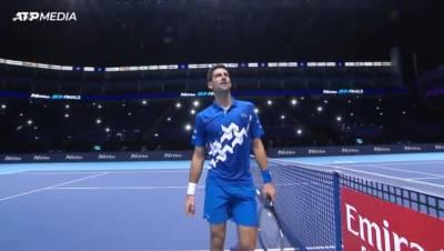 ATP年終網球賽 球王喬帥勝澤瑞夫晉級4強