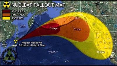 核能 輻射,載島覆島