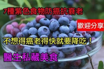 7種紫色食物防癌抗衰老藍莓還可改善眼睛視力